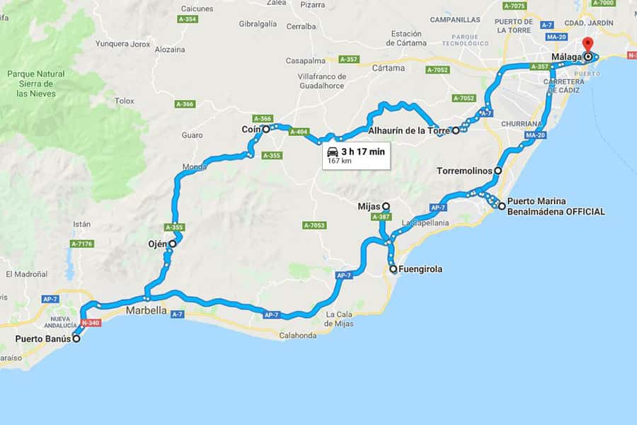 Málaga West Coast and Interior <br/><i class=